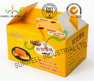 Chiny Custom Printed Foldable Cardboard Food Packaging Boxes For Cup Cake / Dessert Packing dostawca