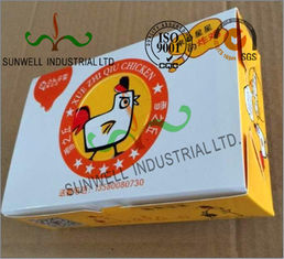 Double Wall Cardboard Food Packaging Boxes , Disposable Cardboard Burger Boxes