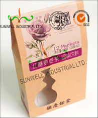PVC Windows Cardboard Food Packaging Boxes , Self Closing Cardboard Takeaway Containers