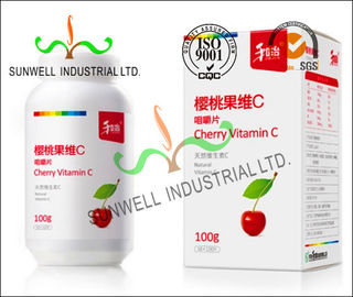 Chiny Fruit Vitamin Bottle Medicine Packaging Box CMYK Color Printing Cardboard fabryka